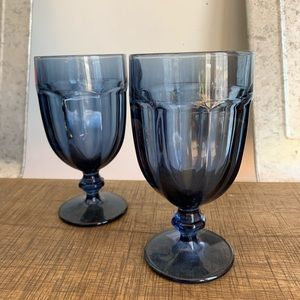 Libbeys vintage blue glassware